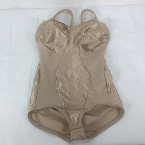 Miraclesuit Body Suit Nude Shapewear 38DD